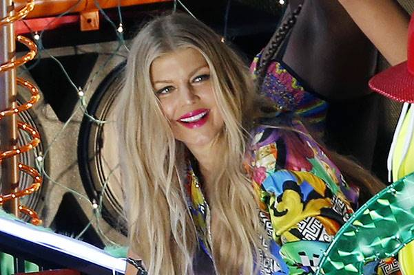 Fergie on set of her last music video clip in Downtown Los Angeles