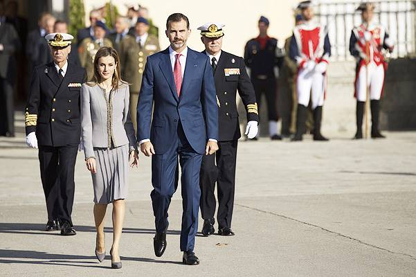 Spanish Royals receive Michelle Bachelet Chilean President at El Pardo Palace