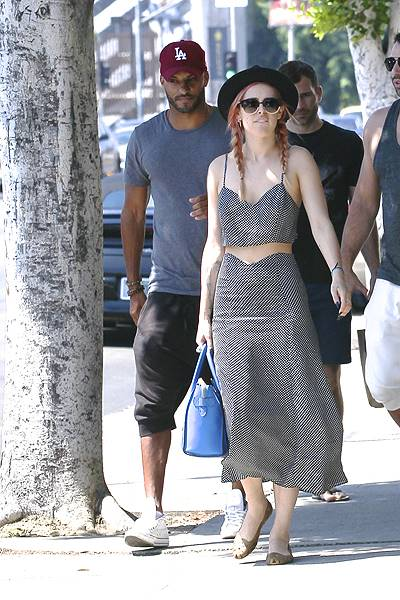 EXCLUSIVE Rumer Willis and former British soap actor Ricky Whittle have a romantic lunch together at Cafe Midi in West Hollywood. The couple were seen leaving together in the same car. Featuring: Rumer Willis,Ricky Whittle Where: Los Angeles, California,