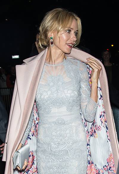 "Naomi Watts is seen arriving at the closing night gala presentation of ""Birdman"" during the 52nd New York Film Festival in New York"