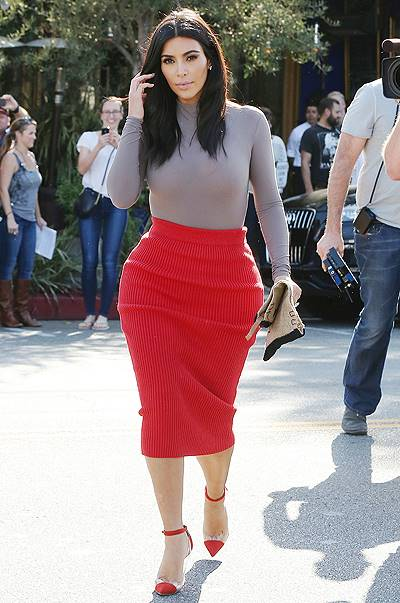Kim Kardashian leaves Fred Segal and goes to Little Next Door with Bruce Jenner