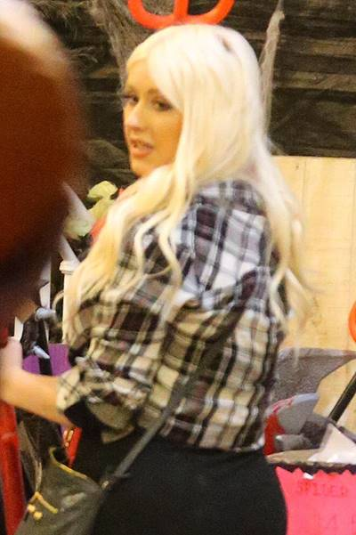 Christina Aguilera arrives at the Mr. Bones Pumpkin Patch with her fiancГ© Matthew Rutler Featuring: Christina Aguilera Where: Los Angeles, California, United States When: 24 Oct 2014 Credit: WENN.com