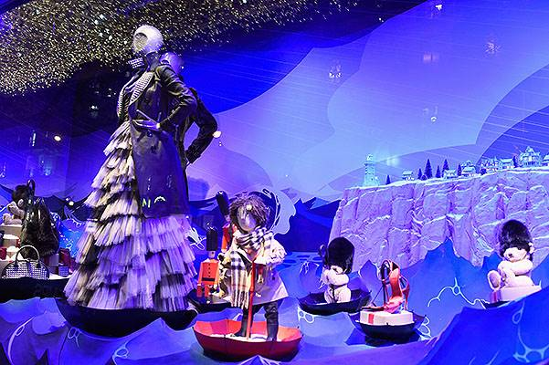 Printemps Christmas Decorations Inauguration In Paris