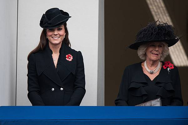 Remembrance Sunday service held at The Cenotaph, Whitehall Featuring: Catherine, The Duchess of Cambridge, The Duchess of Cornwall, Kate Middleton Where: London, United Kingdom When: 09 Nov 2014 Credit: Daniel Deme/WENN.com