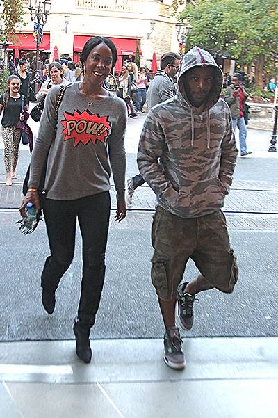 EXCLUSIVE: Kelly Rowland and Tim Witherspoon go to the movie theaters in Hollywood