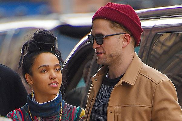 *EXCLUSIVE* Robert Pattinson shows his chivalry to FKA Twigs in the Big Apple