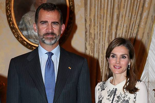 King Felipe VI Of Spain and Queen Letizia Of Spain On A One Day Visit In Luxembourg
