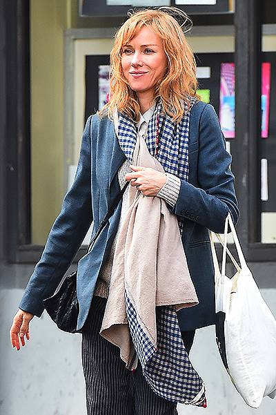 Naomi Watts meets up with her boys at Dim Sum go go for lunch in New York City