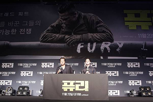 'Fury' Press Conference In Seoul