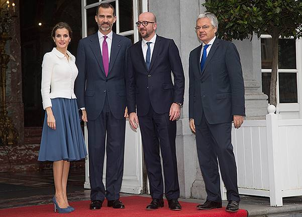 Spanish Royals Visit Brussels