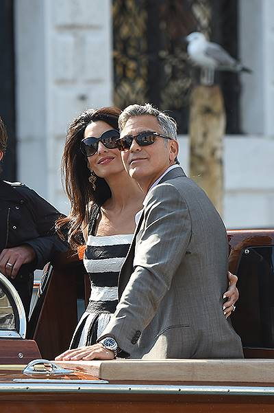 The best 40 pictures of the wedding of George Clooney and Amal Alamuddin in Venice